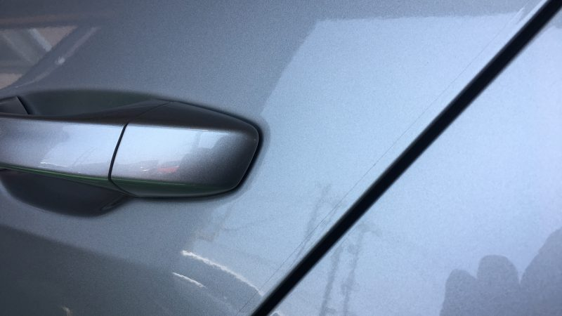 VW ゴルフ ドアエッジ保護フィルム貼り付け施工