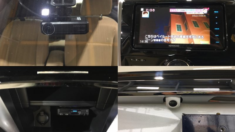 トヨタ プレミオ ナビ・バックカメラ・ドラレコ・ETC取り付け施工