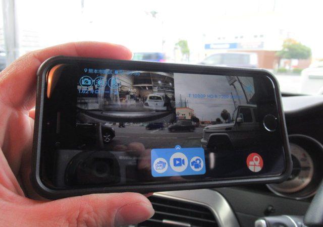 メルセデス・ベンツ Cクラス クーペ(W204) ドライブレコーダー取り付け