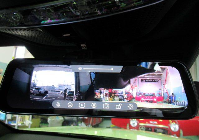 メルセデス・ベンツ Sクラス(W222) ドライブレコーダー、デジタルインナーミラー、レーダー取り付け