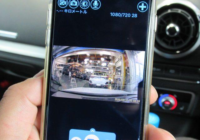 アウディ A3(8V) SB 2カメラタイプドライブレコーダー TVキャンセラー取り付け