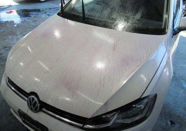 VW ゴルフ 鉄粉除去&ボディーコーティング再施工