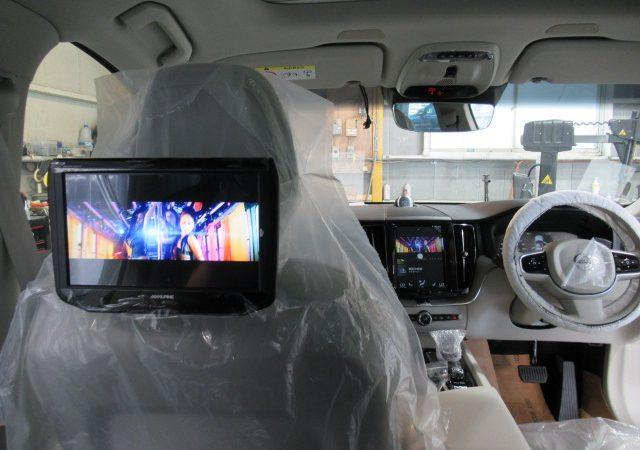 ボルボ XC60 地デジチューナー DVDプレーヤー 後席ヘッドレストモニター取り付け