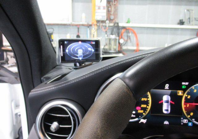 AMG C63 360度全周囲リアカメラ付きドライブレコーダー、マルチバッテリー、レーダー取り付け