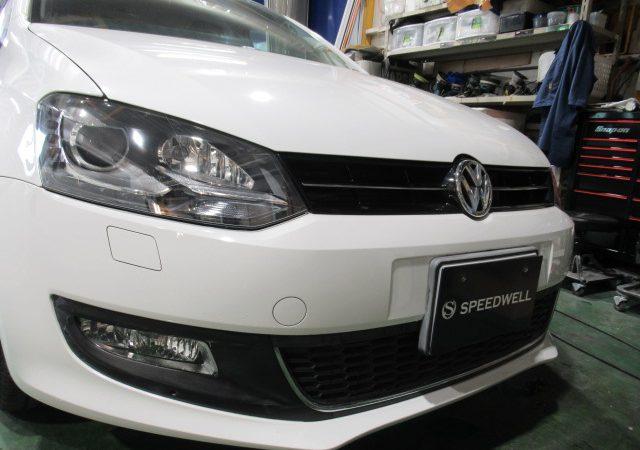 VW ポロ ヘッドライト研磨